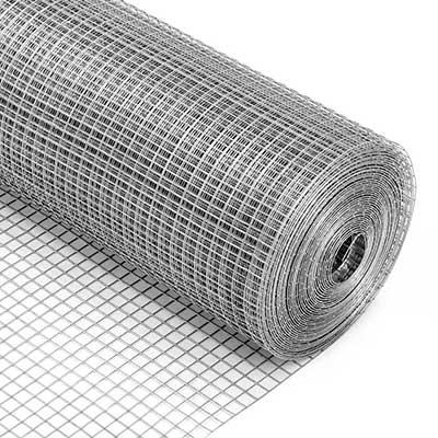 Сетка сварная 25х25х0.8 мм цинк, рулон 1x25 метров